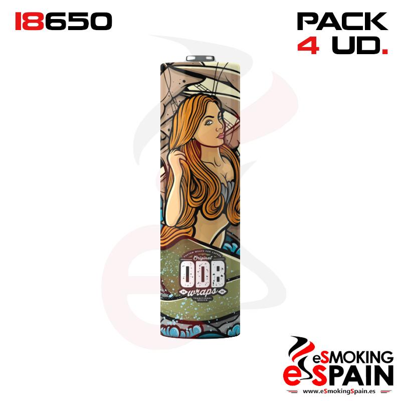 ODB Wrap Mermaid 18650 Pack 4 Unidades