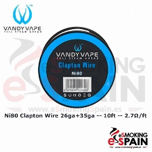Vandy Vape Ni80 Clapton Wire 26ga+35g 10ft (3m)